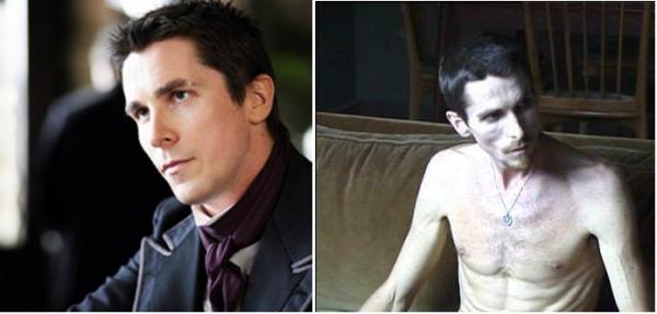 """Christian Bale na trilogia """"Batman"""" (2005, 2008, 2012) e em """"O Mecânico"""" (2011)"""