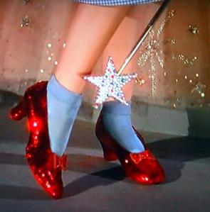 Sapatos de rubi usado por Dorothy no filme de 1939